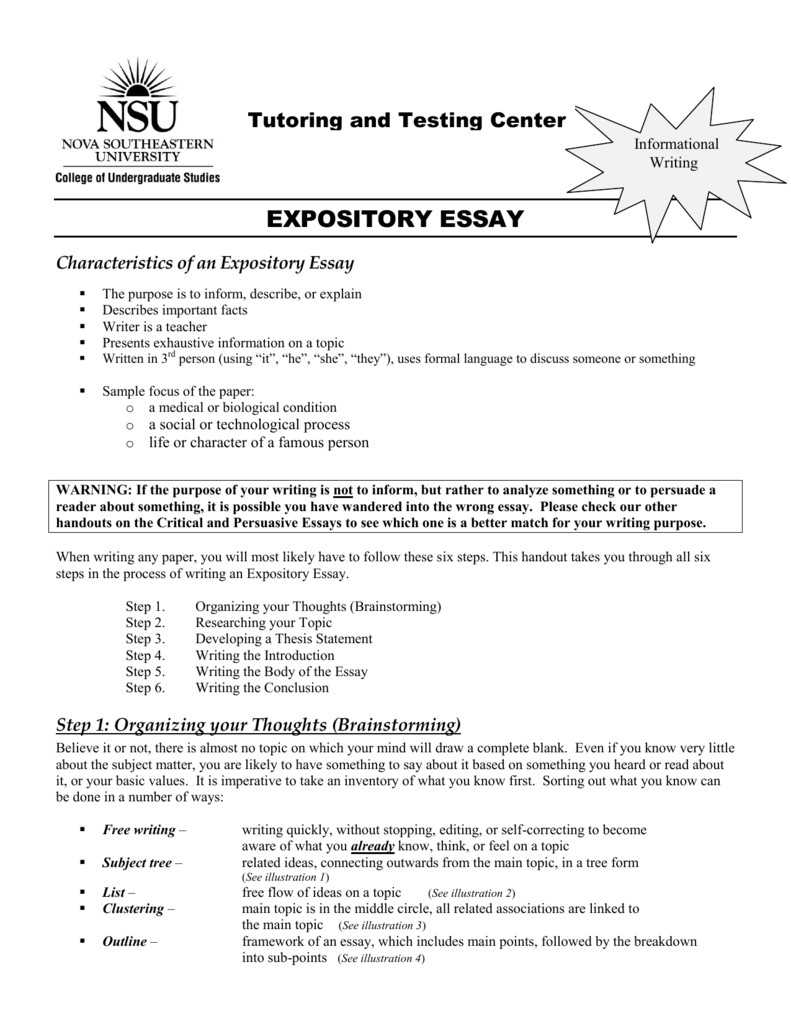 characteristics of epository essays For more course tutorials visit wwwuophelpcom assignment: characteristics of expository essays resources: characteristics of expository essays, the art of cookery web site, about web site, and the fishing florida online magazine web site due date: day 7 [individual] forum.