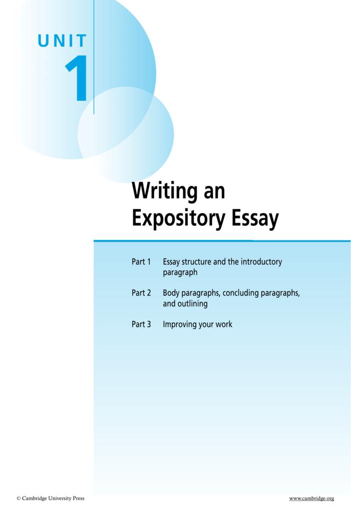 expository essay graphic organizer pdf