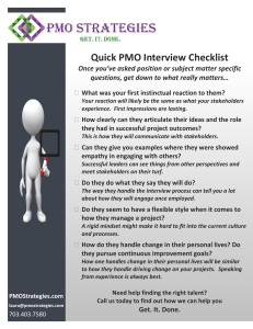 Quick PMO Interview Checklist