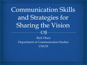 Communication Skills and Strategies for Sharing the Vision