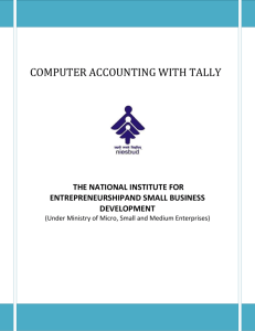 computer accounting with tally