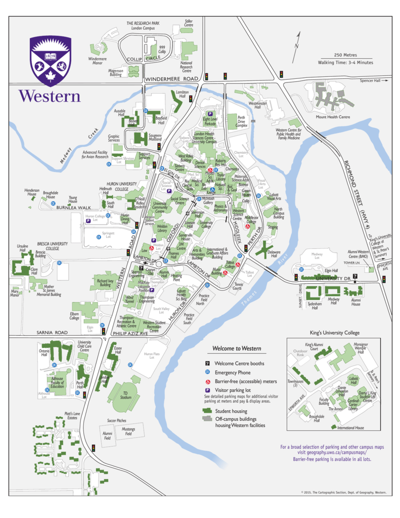 ursuline college campus map Western Campus Map