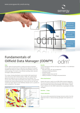 Fundamentals of Oilfield Data Manager (ODM™)