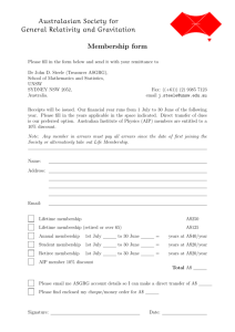 Membership form in PDF form.