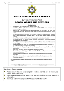 GOODS, WORKS AND SERVICES - South African Police Service