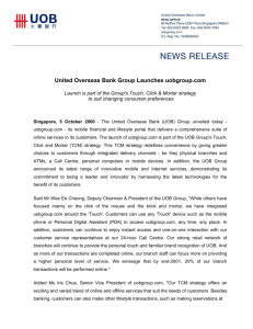 United Overseas Bank Group Launches uobgroup.com
