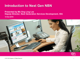 Introduction to Next Gen NBN