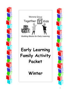 Home Activities for Winter - Monona Grove School District