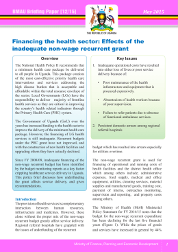 Financing the health sector: Effects of the inadequate non