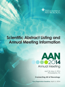 the 2014 Annual Meeting Scientific Abstract Listing