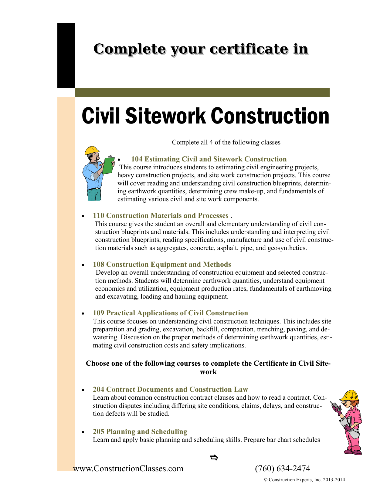 Certificate in Civil Sitework Construction