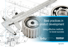 Best practices in new product development