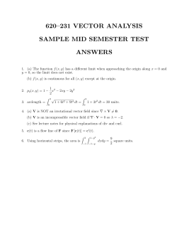 Sample Mid Semester Test Answers
