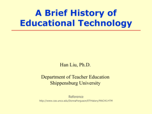 History of Educational Technology-Machines