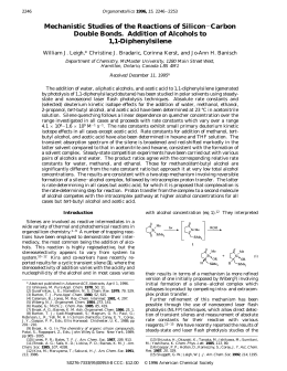 Mechanistic Studies of the Reactions of Silicon