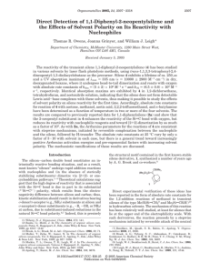 Direct Detection of 1,1-Diphenyl-2-neopentylsilene and the Effects of