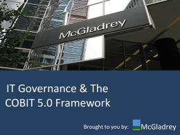 IT Governance & The COBIT 5.0 Framework