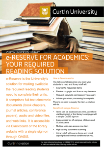 e-Reserve for academics: your required reading solution [ 226KB]