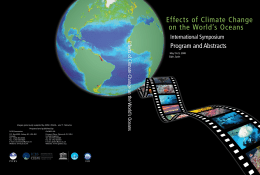 Effects of Climate Change on the World's Oceans - PICES