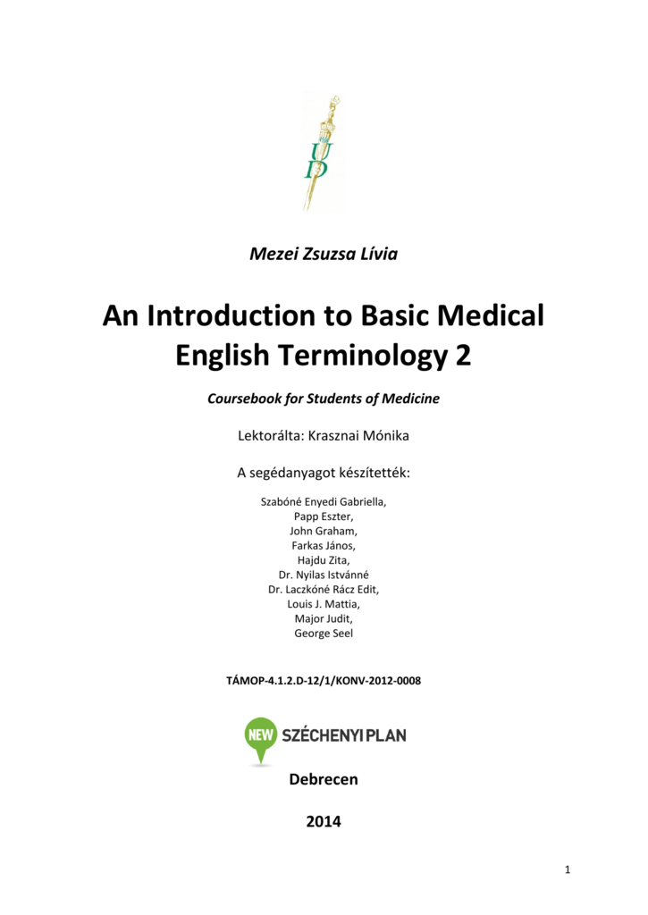 An Introduction to Basic Medical English Terminology 2