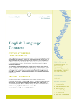 English Language Contacts