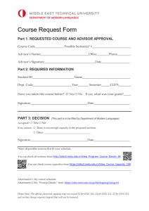 B  Accreditation Summary - Department of Mechanical Engineering