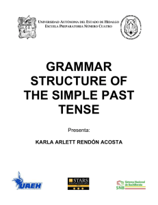grammar structure of the simple past tense