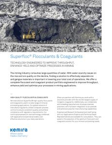 Kemira Superfloc® – Flocculants and organic coagulants