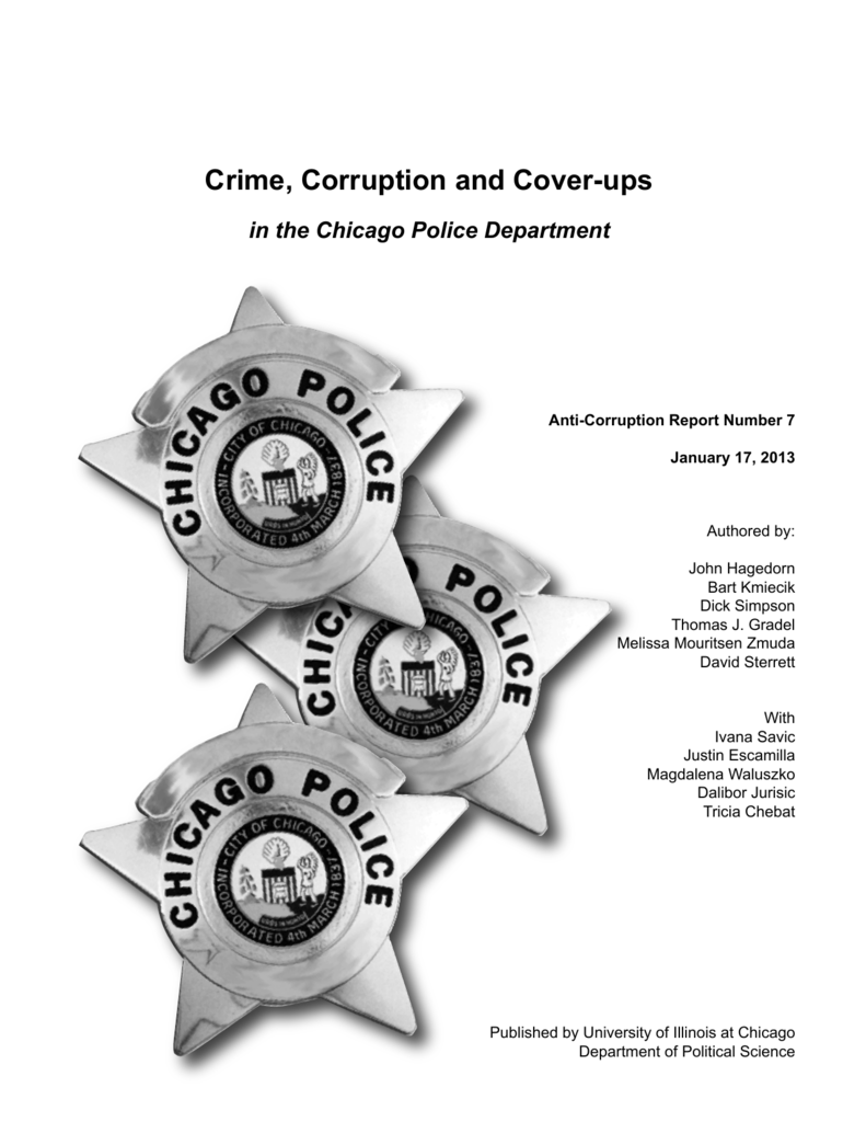 Crime, Corruption and Cover-ups - UIC Department of Political