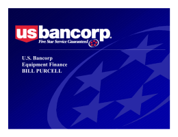 U.S. Bancorp Equipment Finance BILL PURCELL