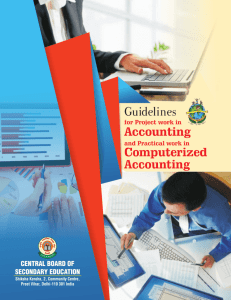 Guidelines on Project Work (Accountancy)