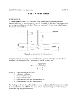 experiment of flow meter measurement biology essay The difference between heat and temperature is analogous to  which is why liquids flow—but not  unit of measurement for the kinds of thermal.