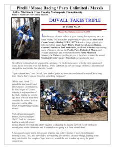 Pirelli / Moose Racing / Parts Unlimited / Maxxis DUVALL TAKES