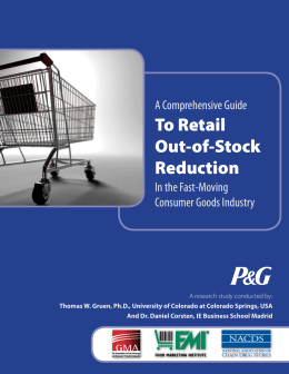 To Retail Out-of-Stock Reduction - National Association of Chain