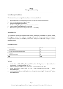 AD2101 Management Accounting - Nanyang Technological University