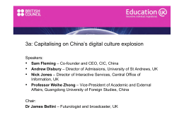 3a: Capitalising on China's digital culture explosion