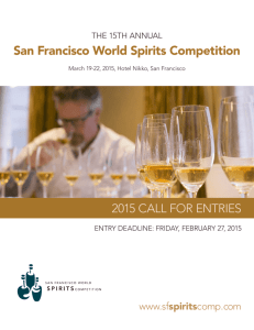 2015 SF World Spirits Competition Call for Entries