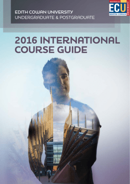 2016 International Course Guide for Edith Cowan University
