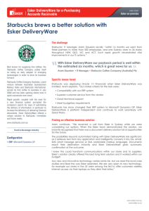 Starbucks brews a better solution with Esker DeliveryWare