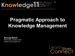 Pragmatic Approach to Knowledge Management