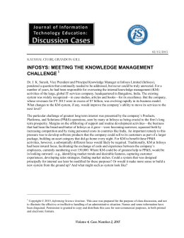 infosys: meeting the knowledge management challenge
