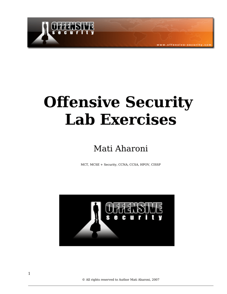 Offensive Security Lab Exercises