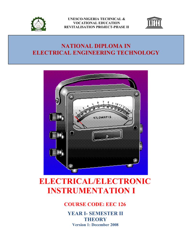 Eec 126 Instrumentation 1 Theory Unesco Balanced Bridge Voltmeters Electronic Circuits And Diagram