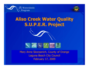 Aliso Creek Water Quality S.U.P.E.R. Project