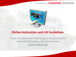 Online Instruction and UH Guidelines