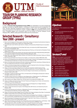 tourism planning research group (tprg)