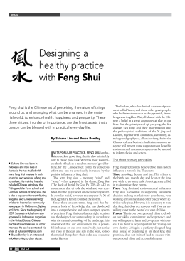 Designing a Healthy Practice with Feng Shui