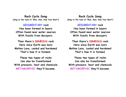 Rock Cycle Song Rock Cycle Song