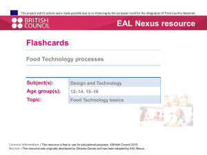 Flashcards PDF - EAL Nexus