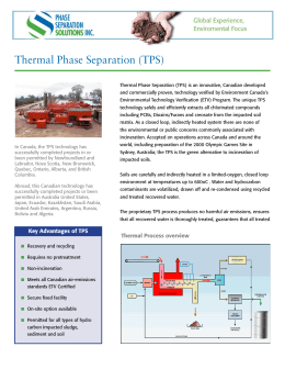 Thermal Phase Separation (TPS)